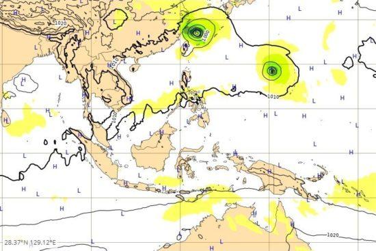台風 進路 ヨーロッパ